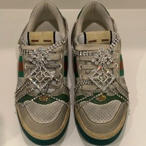 Gucci screener sneakers with crystals